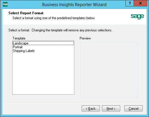 Business Insights Reporter Wizard Template